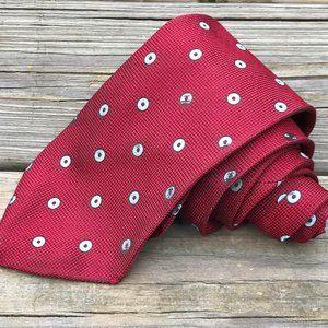 Brooks Brothers Men Tie Maroon Pure Silk Made USA